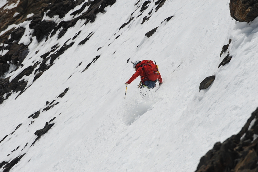 Fredrik Ericsson climbing towards camp 3 at 7100m. Photo: Tommy Heinrich