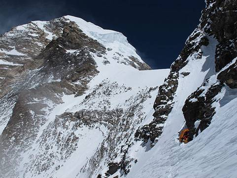 A photo of Camp 4 on the Cesan Route, from Fred's website.