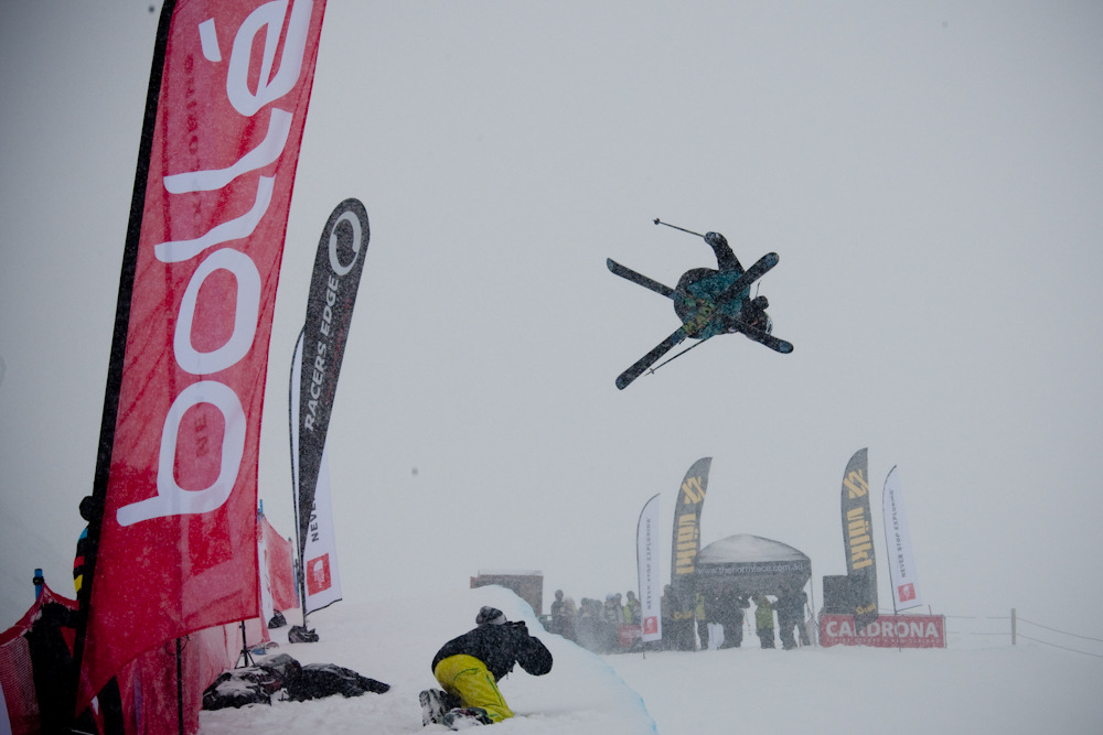 Taylor Seaton sends it in the halfpipe
