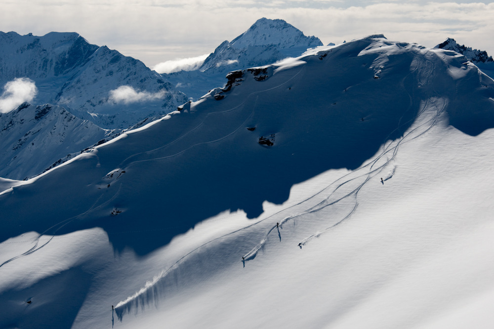 The North Face Heli Sessions Group Shot. Photo by Camilla Stoddart.