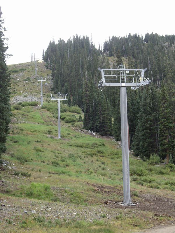 Arapahoe Basin Black Mountain Express Towers Installed