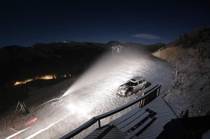 Colorado's Loveland Ski Area Begins Blowing Snow