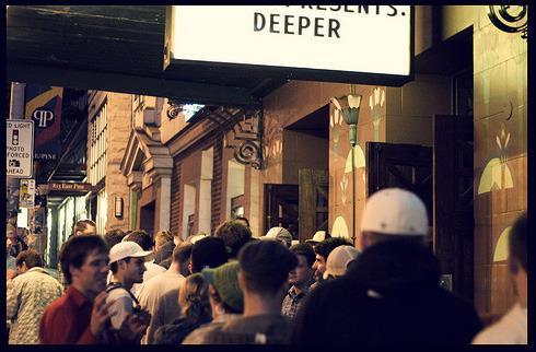 Line Outside the Theater, Seattle Jeremy Jones Deeper Premiere