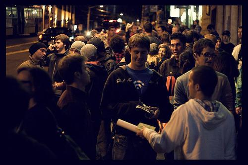 Crowd Waiting to Get In, Seattle Jeremy Jones Deeper Premiere