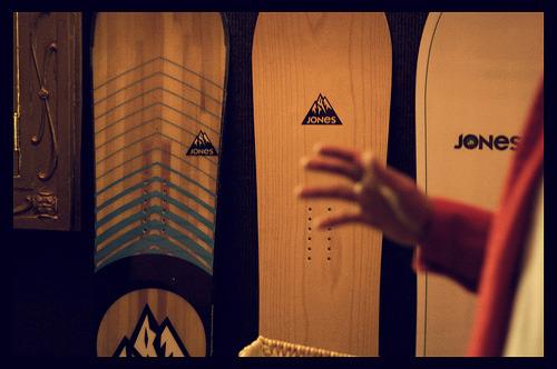 Jones Snowboards on Display, Seattle Jeremy Jones Deeper Premiere
