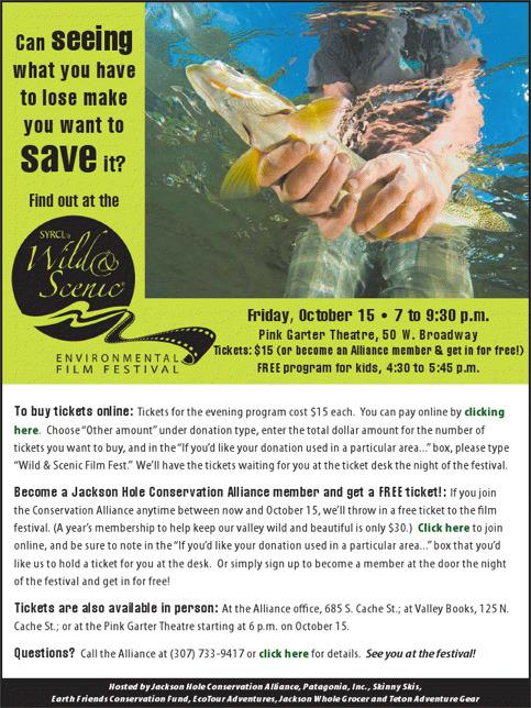 Wild and Scenic Environmental Film Festival Tonight