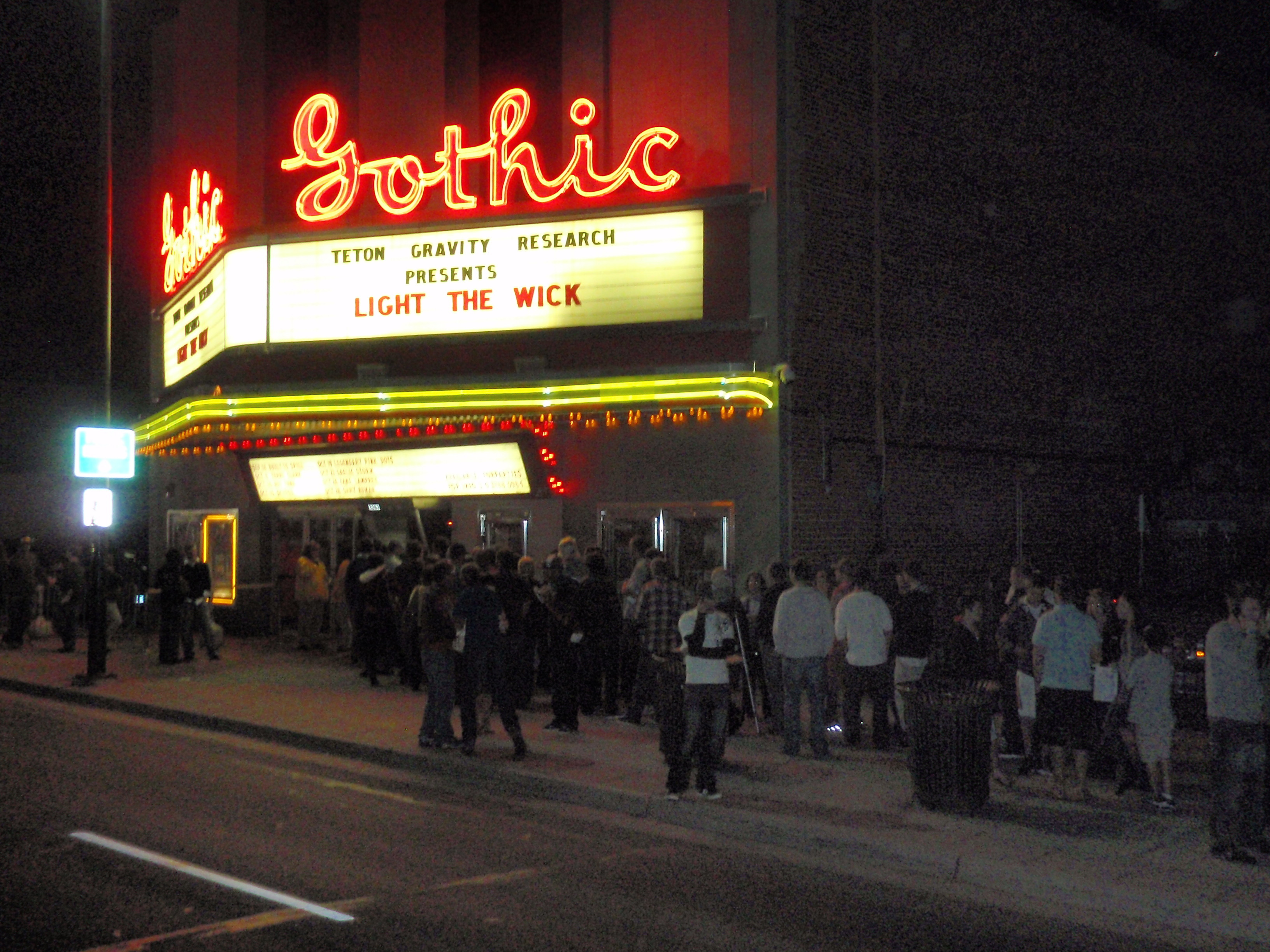 Gothic marquee