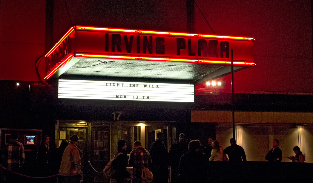 Irving Plaza - ready for Light the Wick