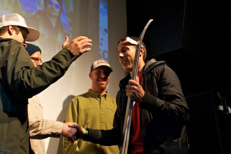 Stoked winner of some Volkl skis