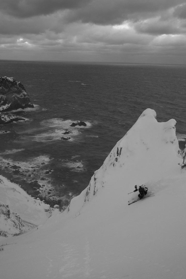 Coastal winds, powder turns, and pretty views. Skiier: Chris Benchetler