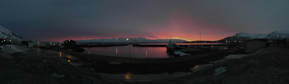 iceland Sunrise at Harbor