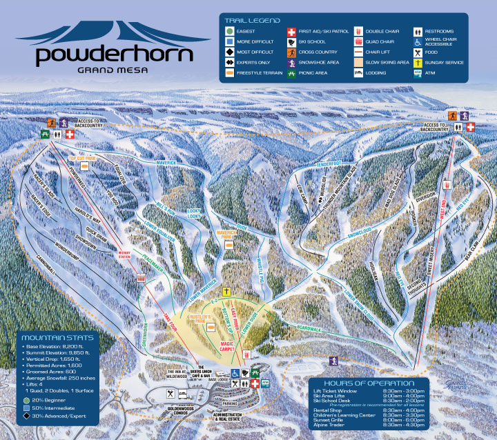 Powderhorn Ski Area Trail Map