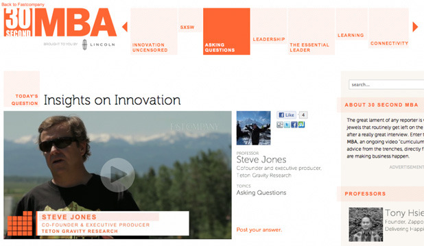 TGR Co-Founder Steve Jones Featured On 30 Second MBA
