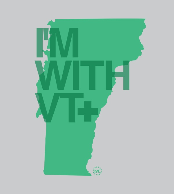 I'm With Vermont magnet