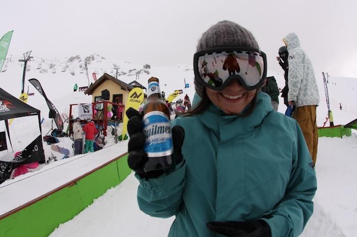 Brooke Geery drinks Quilmes