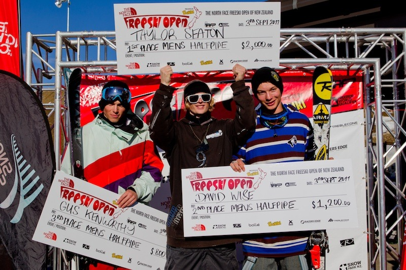 New Zealand Freeski Open Halfpipe Men Winners