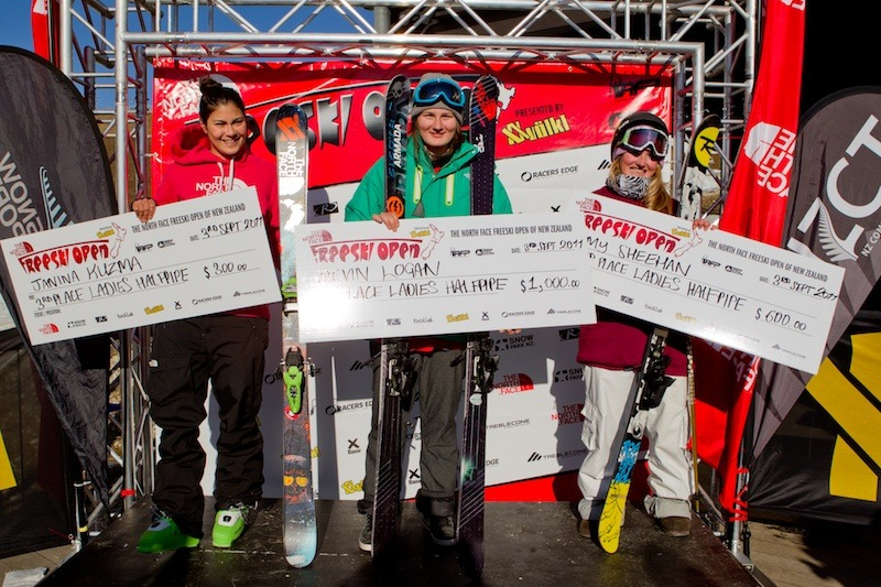 New Zealand Freeski Open Halfpipe Female Winners