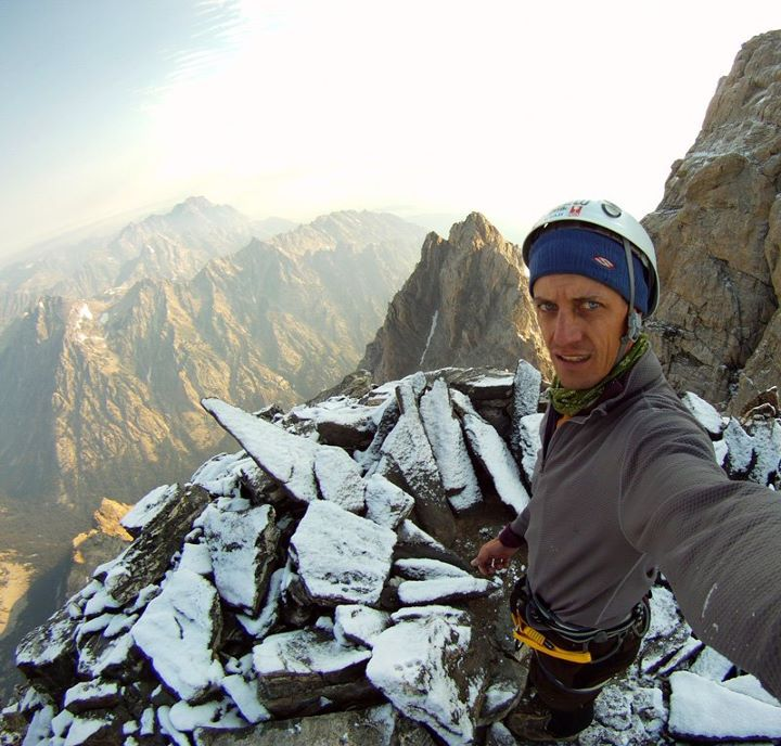 Jake Hawkes On The Grand Teton With September Snow 2011
