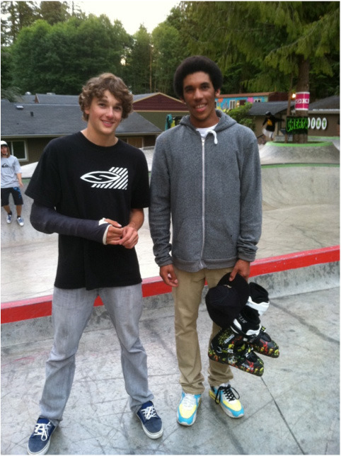 Alex Brown With New Dalbello Ski Boots