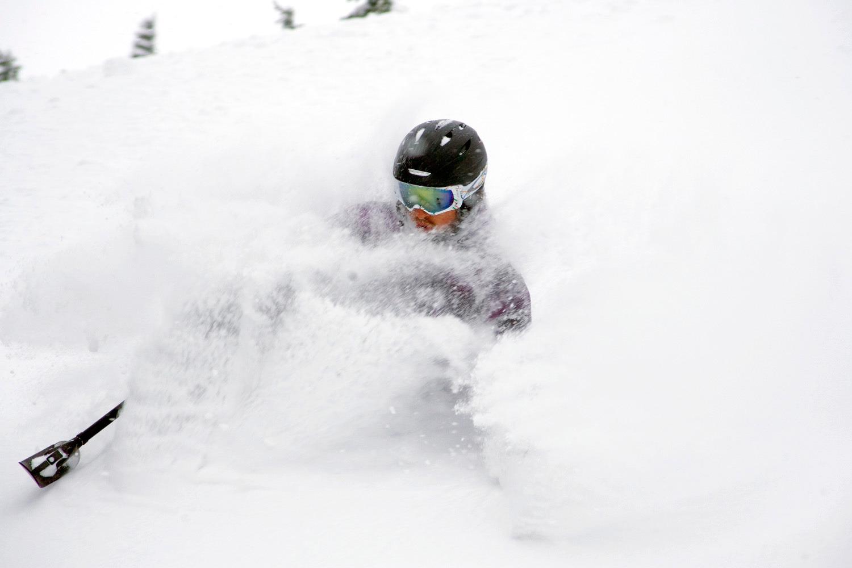 Josh Dueck Skis Powder On His Sit Ski