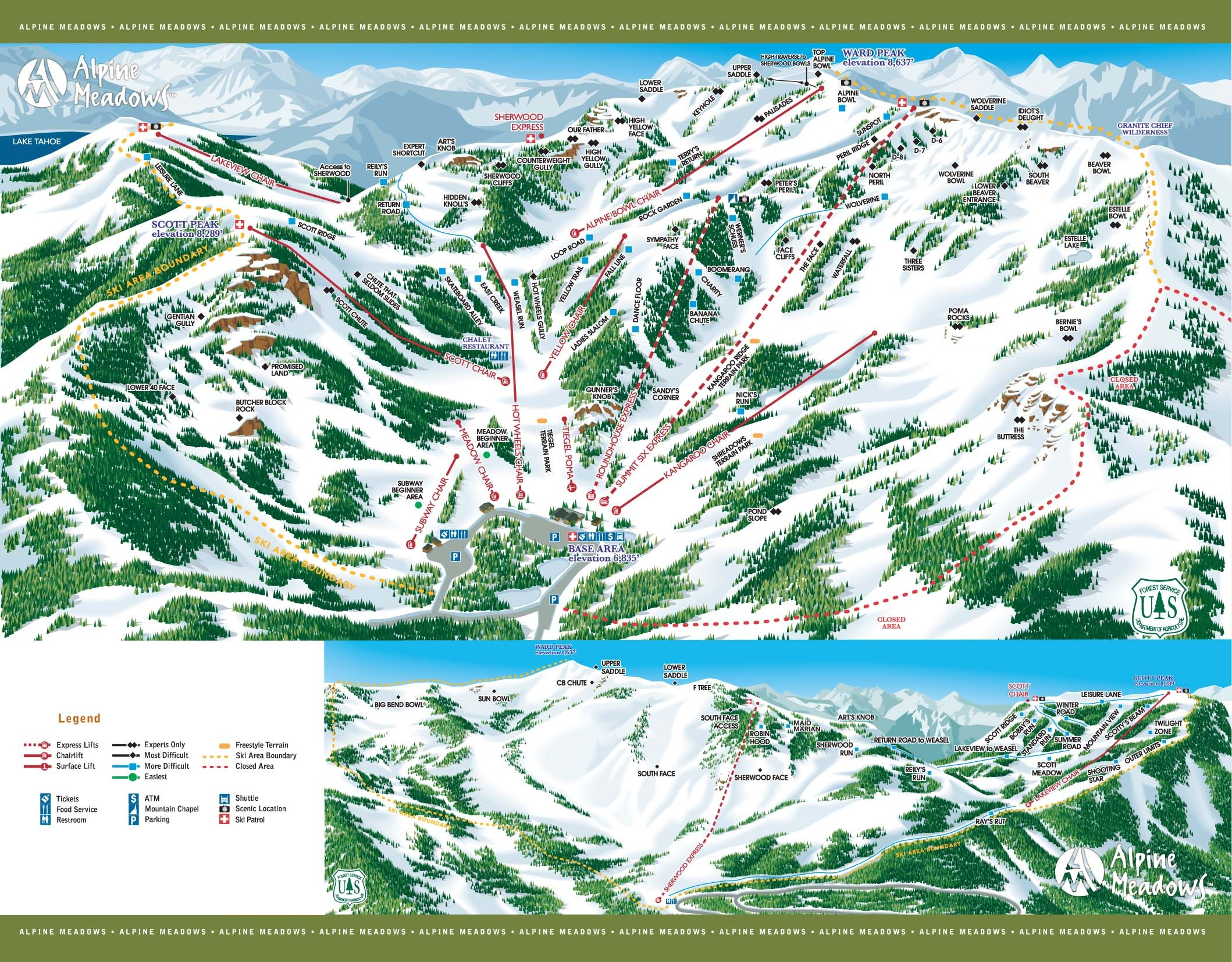 Alpine Meadows Trail Map
