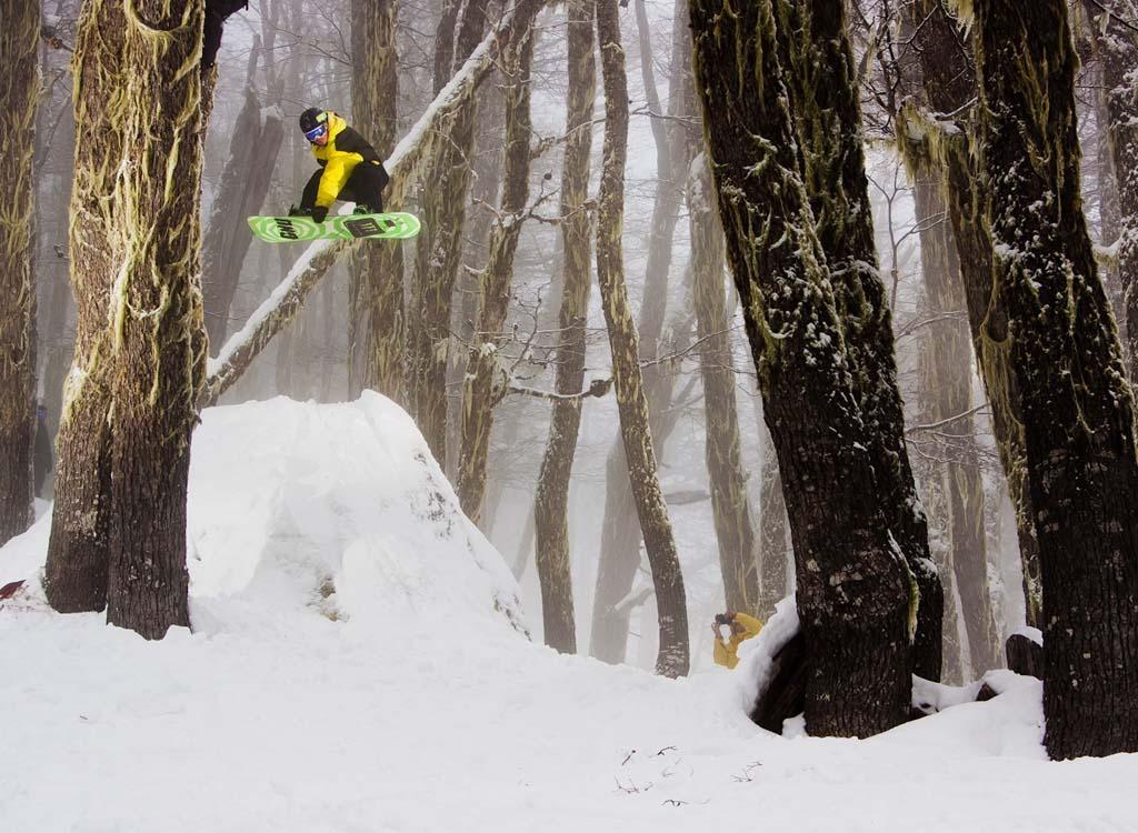 Dustin Elbridge airs through the trees