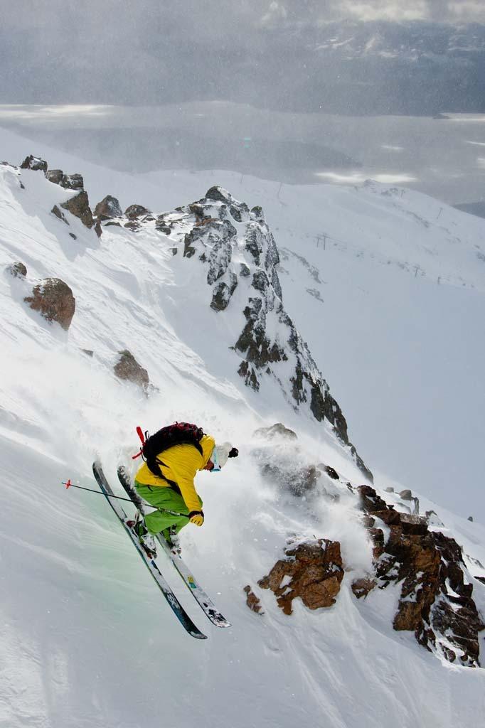Rainer Benz drops in at Cerro Catedral