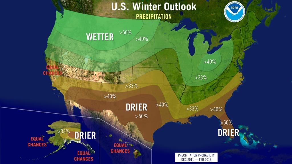 Winter outlook precipitation 2011-12