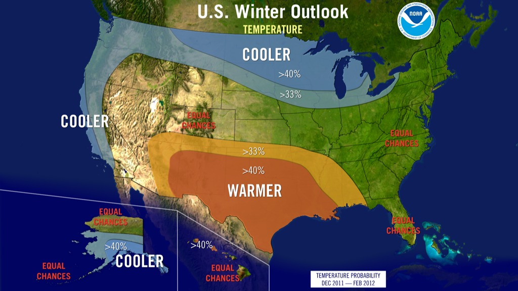 Winter outlook temperature 2011-12