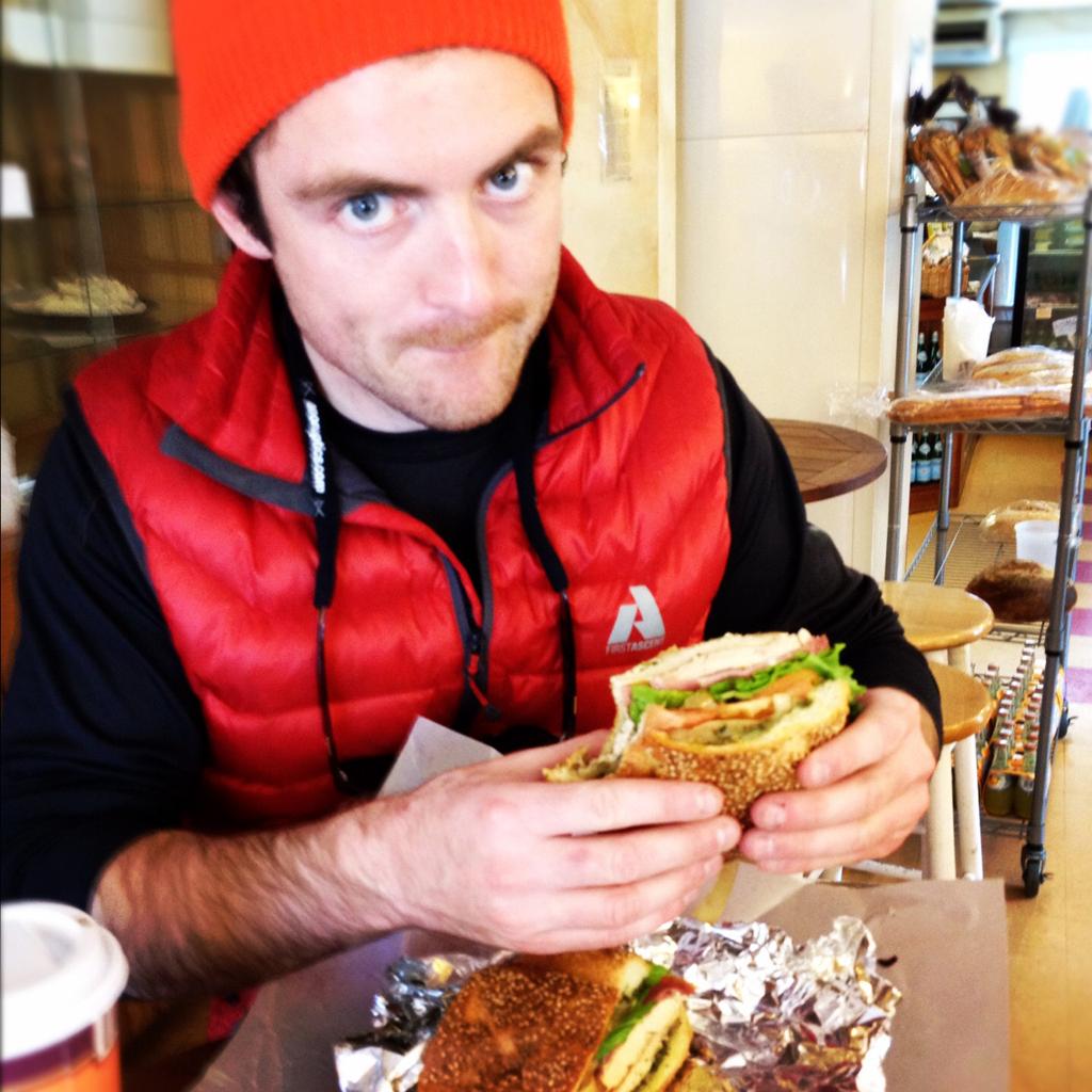 Ryan Dunfee Eats A Mazellis Sandwich
