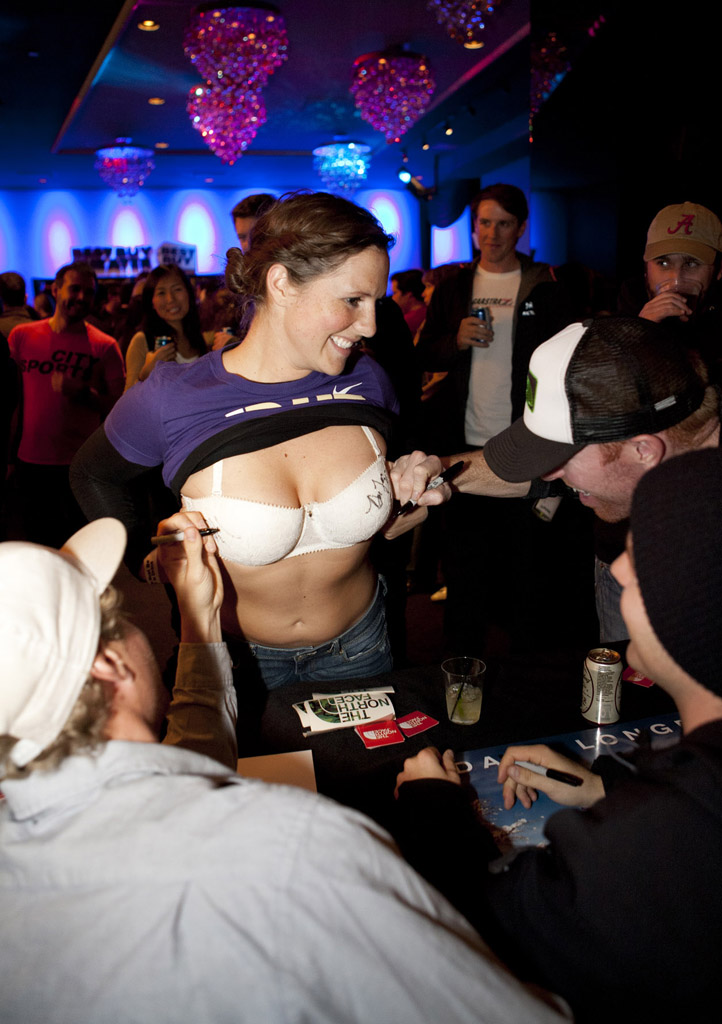 Signing boobs in NYC