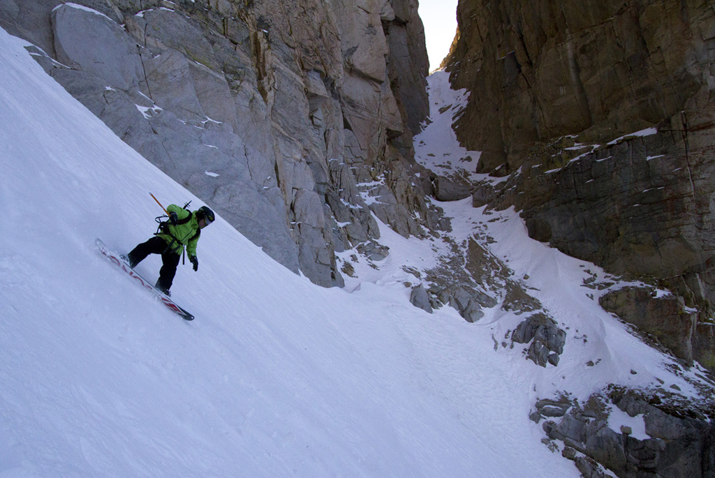 Middle pitch of Hulk Couloir