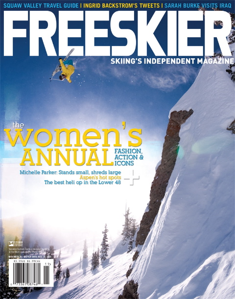 Suzanne Graham on Cover of Freeskier