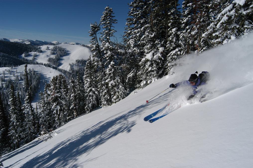 Evan Howe skis Shovel Slide On Mount Glory