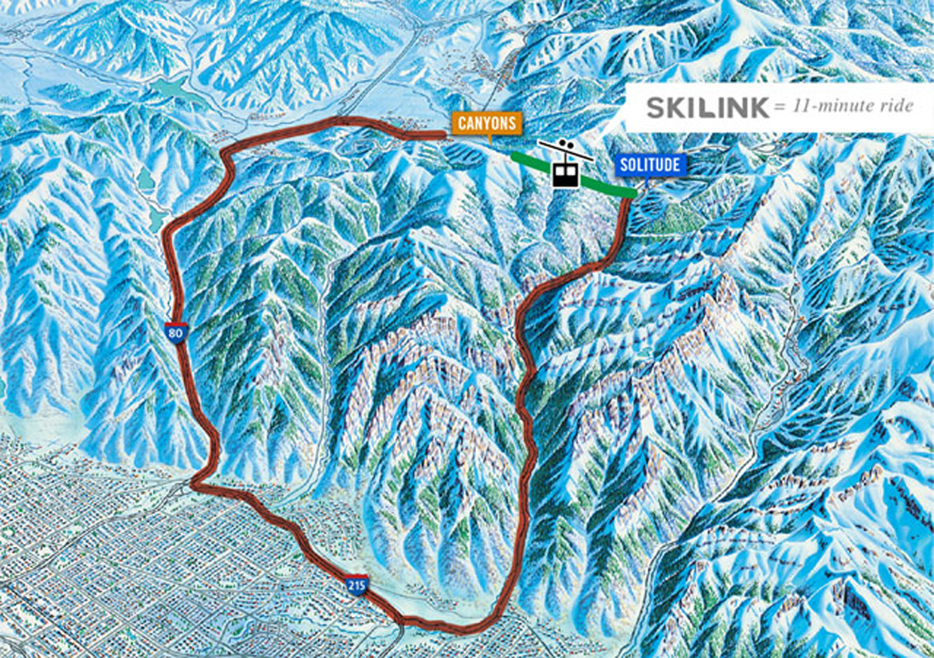 Map of proposed SkiLink