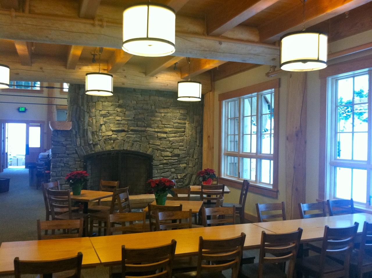 Inside Ravens Hut at Mount Baker