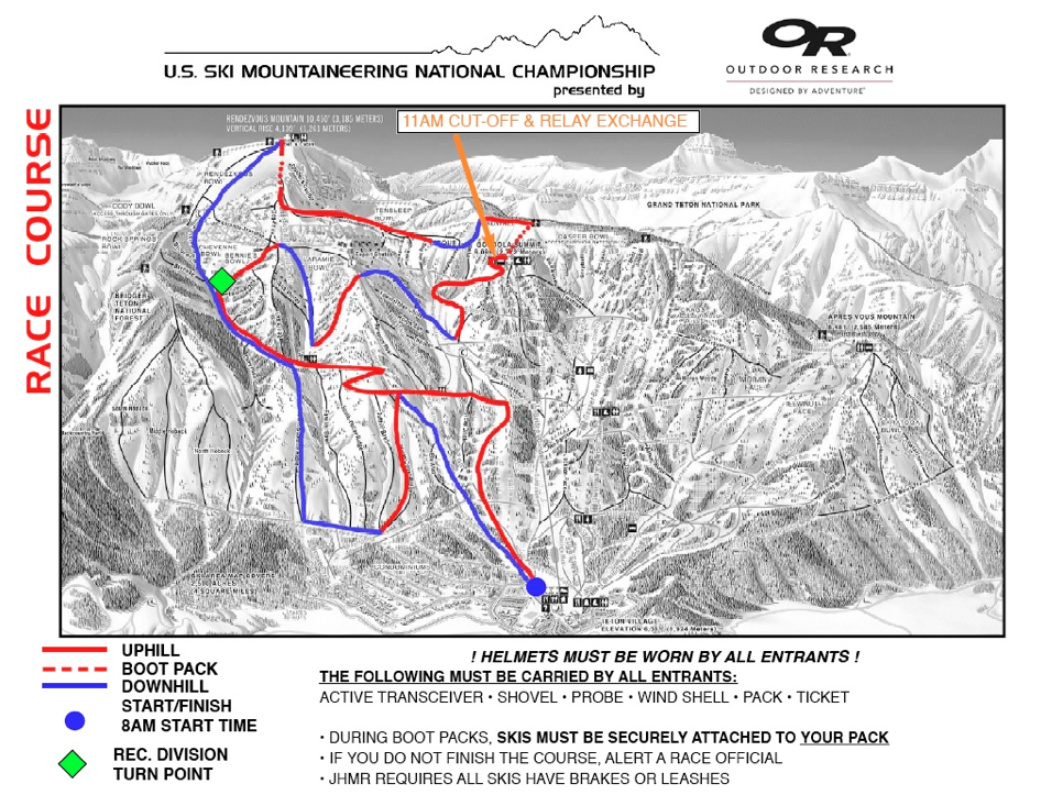 US Ski Mountaineering National Championship Course