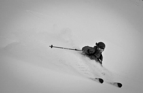 Cody Townsend Rips Alyeska. Photo By Charlie Renfro