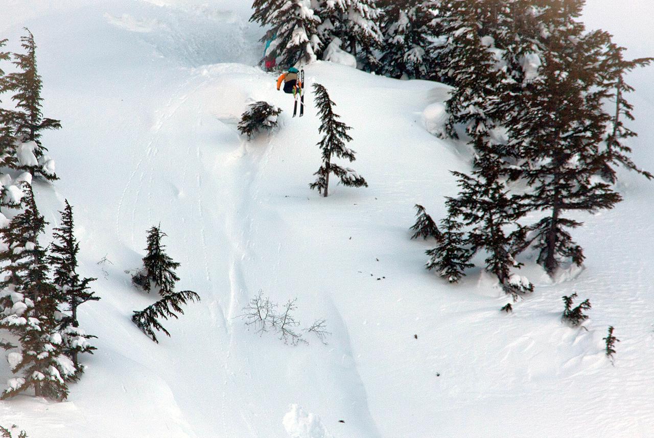 Dash Longe 360 in CPG's cat skiing zone