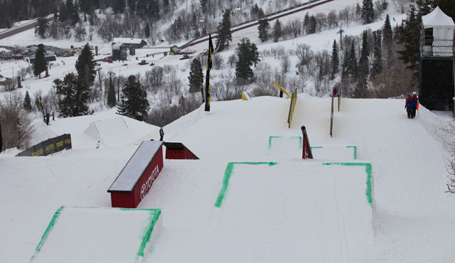 Winter Dew Tour Toyota Championships Slopestyle Course At Snowbasin