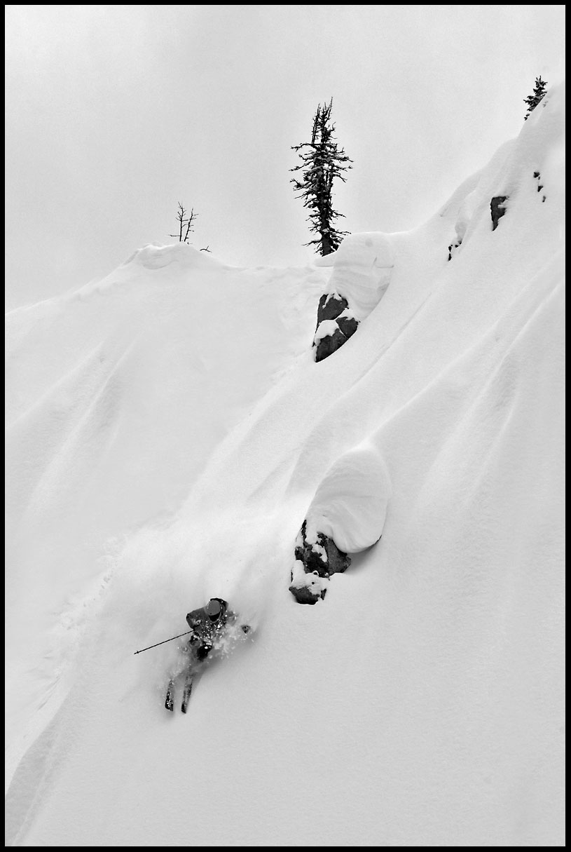 Shane Cottom skis the virtues at Bridger Bowl by Pat Clayton