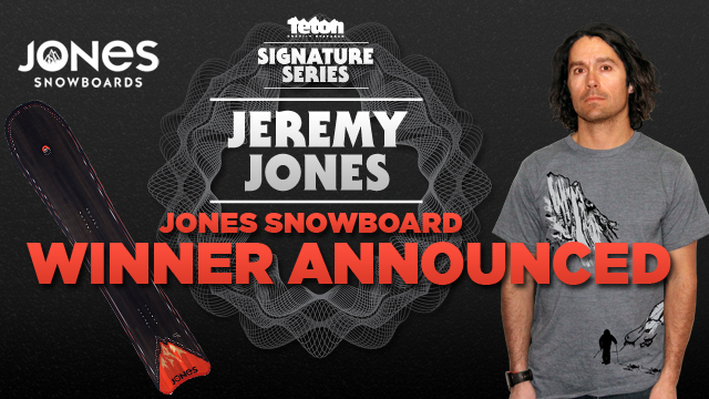 Jeremy Jones Signature Tee Winner