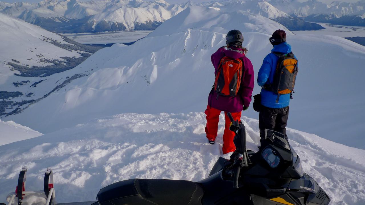 Sage Cattabriga-Alosa, Paul Laca check out big mountain lines