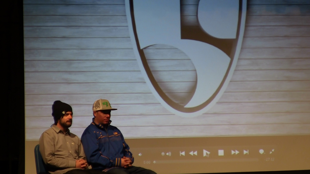 Steve Wallace and Roy Tuscany presented to over 700 students at Harwood Union High School in Moretown, VT