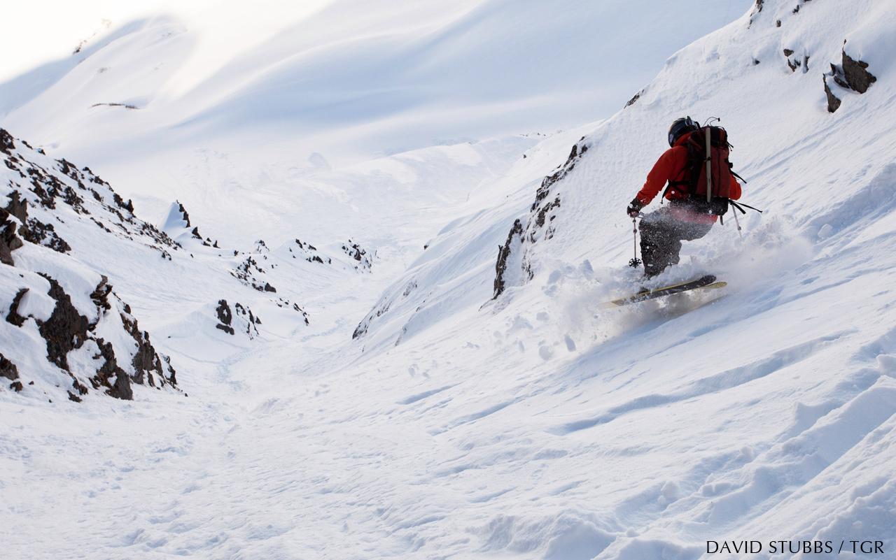 Jeremy Frumkin makes the first descent of Tweezer. Photo By David Stubbs
