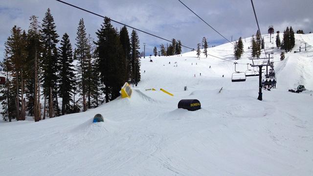 Boreal Ski Resort Terrain Park In California