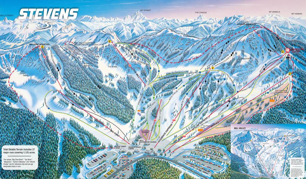 Stevens Pass Trail Map