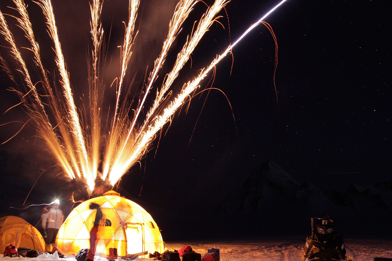 Blowing off fireworks in the Chugach