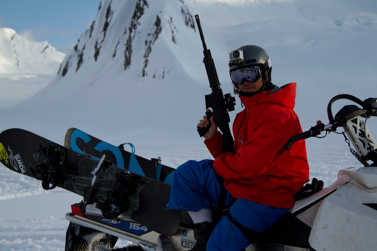 Ralph Backstrom with an assault rifle in AK