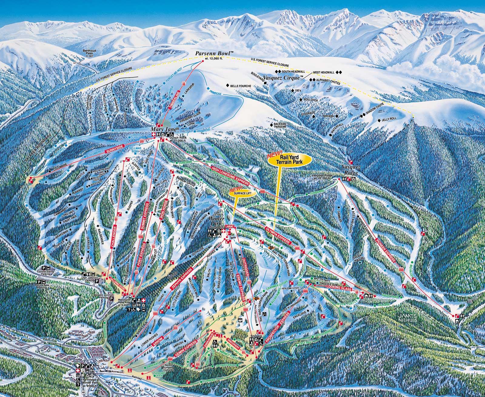 Winter Park Trail Map Colorado